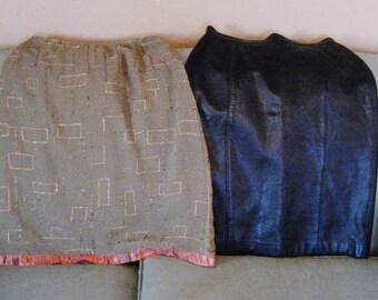 Vintage ladies skirts size 6, leather.  Lot.  Pencil skirts.