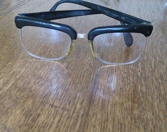 Vintage Mad Men Rodenstock Golf eyeglasses.  12k.  Black rim.