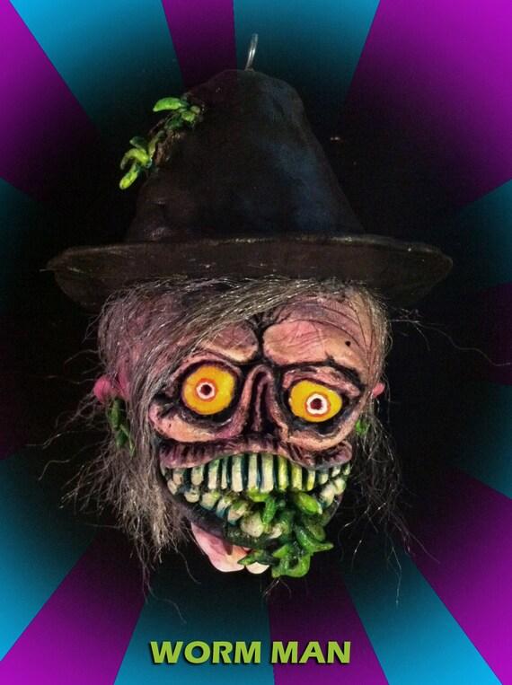 OMH Halloween Ornament WORM MAN