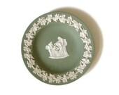 Wedgwood jasperware green plate