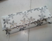 White with Silver Sequins Clutch