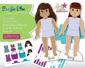 Stacy and Stella printable paper dolls
