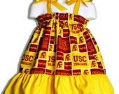 NCAA USC Trojans Boutique Custom Made Pillowcase Dress