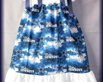 NFL Dallas Cowboys Tie Dye Boutique Pillowcase Dress Sizes: Infant Toddlers Girls