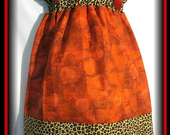 CLEARANCE SALE Size 3T/4T Valentine Hearts & Leopard Print Custom Boutique Pillowcase Dress