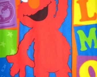 Sesame Street Elmo Blocks Fleece Panel Soft Warm Throw Blanket or Wall Hanging