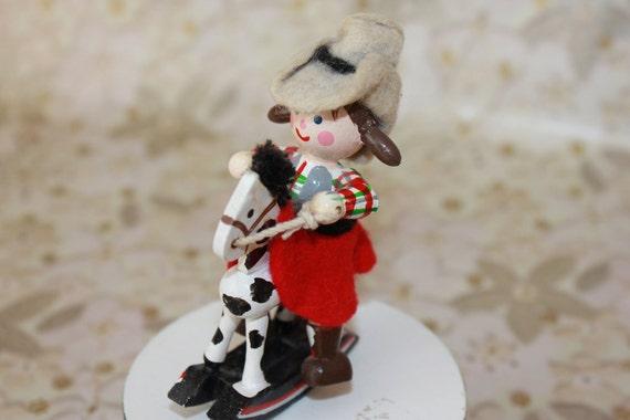 1980s Music Box- Cow Girl