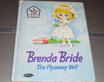 Vintage Brenda Bride The Flyaway Veil children's book Whitman