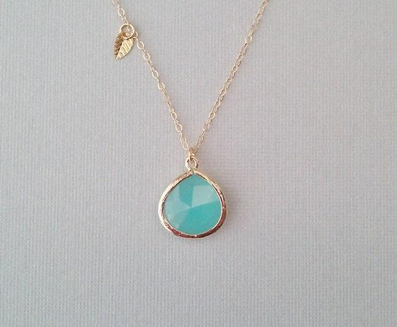 Ocean Blue Gold Necklace