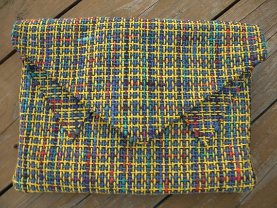Crayola Tweed Statement Clutch