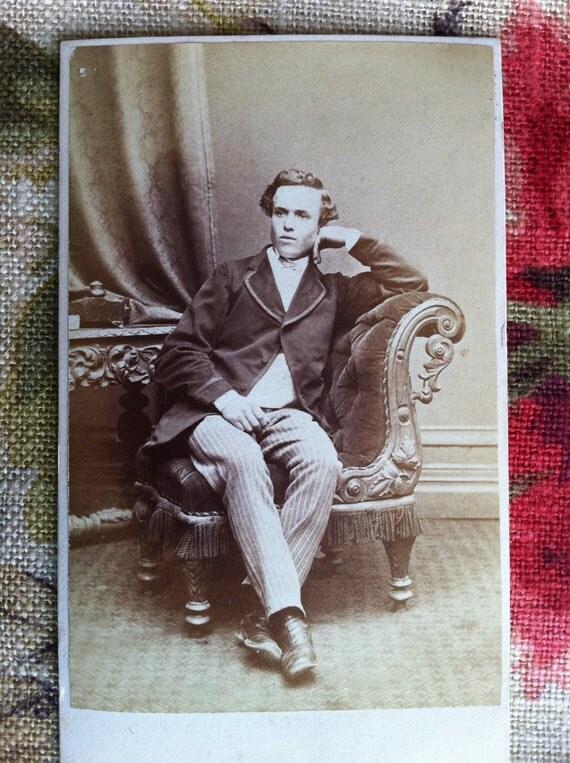 Antique Carte de Visite - Dandy Gentleman in a Chair (cdv)