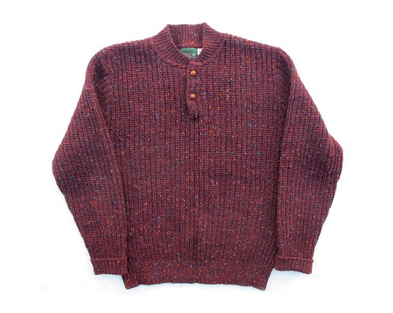 Vintage J. Crew Outfitters Burgundy Sweater Sz M