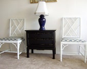 Pair of Chinese Chippendale Chairs- On Hold
