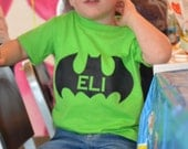 Custom Hand Painted Batman Shirt with name