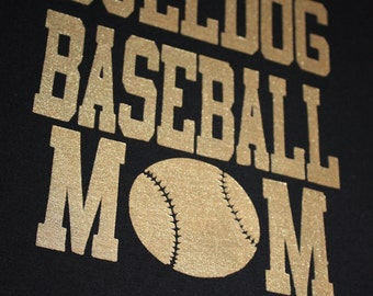 Custom hand painted baseball mom t shirt