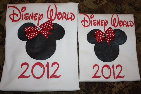 Mother and Daughter Matching Disney World (or Land) 2014 Shirts