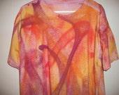 Hand-dyed men's tee shirt, size XXL