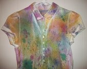 Hand-dyed polo shirt, size M