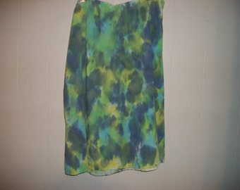 Hand-dyed A-Line skirt