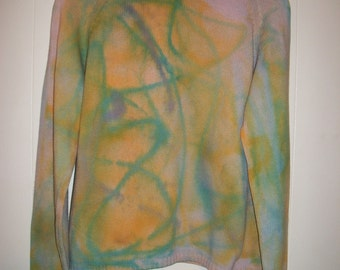 Hand-dyed turtleneck sweater, size L