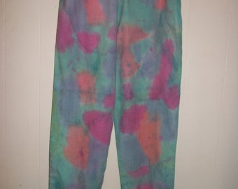 Hand-dyed pants, size S