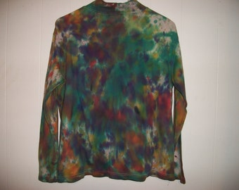 Hand-dyed long sleeved tee shirt, size M