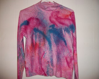 Hand-dyed long sleeved tee, size S