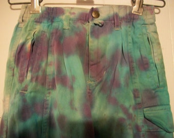 Hand-dyed children's pants, size 5