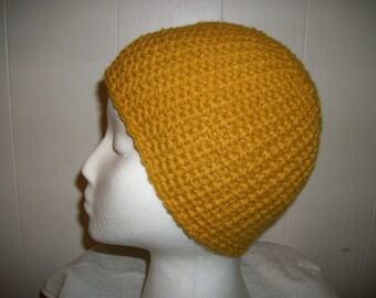 Gold crochet hat