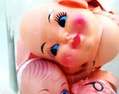 RESERVED Vintage Doll Heads and Doll Faces Kitschy RESERVED