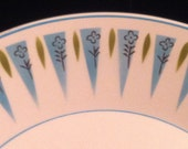 Vintage Mikasa Blue Point Cera Stone Cups and Saucers 12 Piece Set