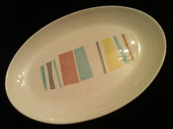Vintage Oval Vernonware ANYTIME pattern Platter
