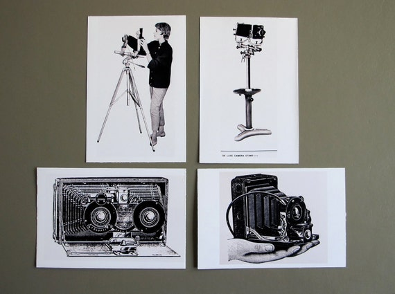 smile on--black and white photographic POSTCARDS, set of 4