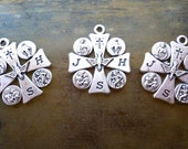 Moving Sale 50% Off Silver 4 Way Cross Lot - Catholic, Christian Set of 3 Jewelry Supplies or Gifts