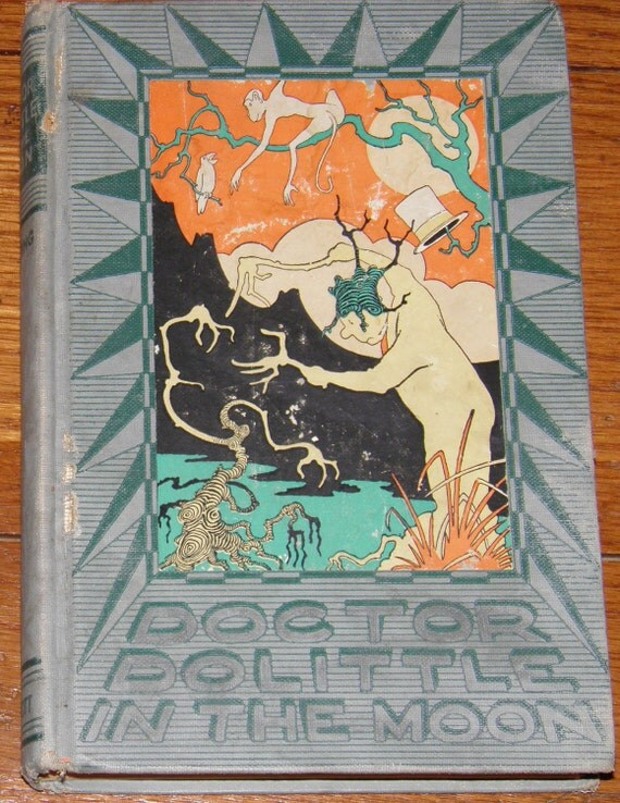 1928 Doctor Dolittle In The Moon Hugh Lofting Book