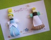 Disney Princess Cinderella inspired ribbon hair clip....Special Edition