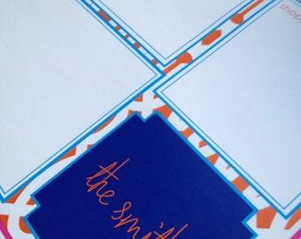 Trellis pattern 11 X 17 desk pad
