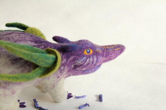 Insidious Crocus, the needle-felted creature