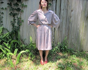 Vintage // Mod Paul Stanley Two Piece Dress Suit // Colorblock Squares // Size 2 Bell Sleeves