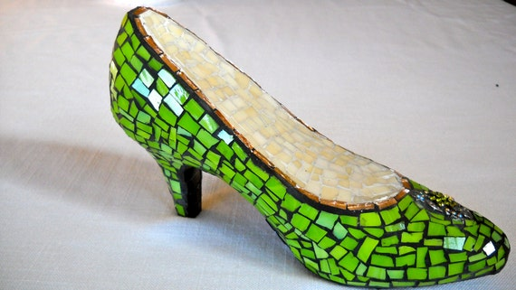 Green With Envy Mosaic Shoe