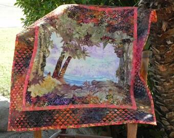 Tropical Island Original Pieced Landscape Art Quilt