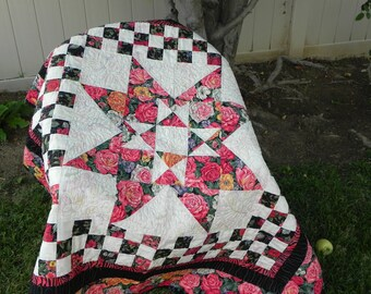 Star Rose Foral Quilt