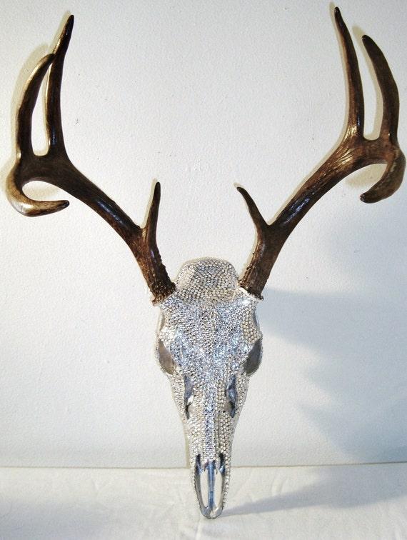Deer Skull Crystal Rhinestones Art