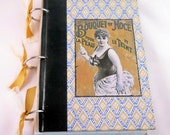 Altered Art Journal with Reader's Digest Book Covers:  French Showgirl Art Nouveau Vintage Ephemera Notebook
