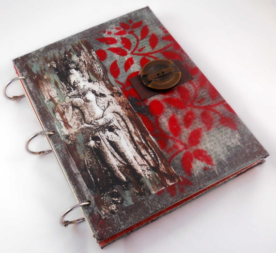 Mixed Media Journal // Art Blank Notebook or Sketchbook //Eclectic Goddess// 6x8 inches //Handmade Gift//Hand-Painted Notebook// Writer Gift