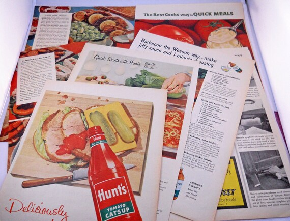 Retro Food Ads and Recipe Pages, 1950s Vintage Full Color from Better Living Magazine