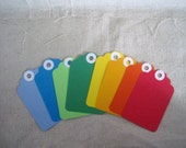 Set of 8 Small Gift Tags - Primary Colors