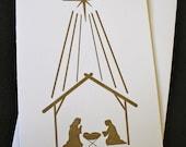 SALE Destash Religious Nativity Scene Christmas Cards Box of 10