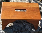 OOAK Handcrafted Step Stool Mesquite 7 1/2 Inches tall