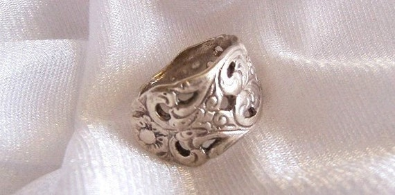 Vintage Sterling Silver Spoon Ring - Size 4 1/2 - B1005